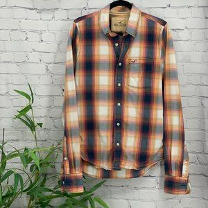 🎉Hollister Multicolor Long Sleeve Button Down